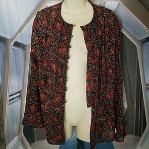 Paisley peasant blouse